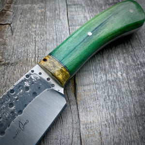 The Saluda - Green Dyed Hickory & Buckeye Burl