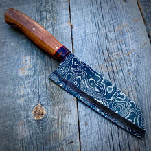 Load image into Gallery viewer, Damscus Santuko Chef - One of a Kind - Curly Koa & Cocobolo