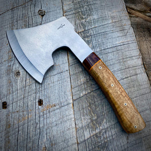 Field Hatchet - One of a Kind - Curly Wandoo & Cocobolo Burl