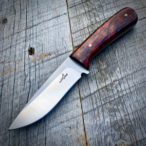 Classic Field Knife - One of a Kind - Super Curly Cocobolo