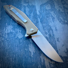 Load image into Gallery viewer, Expedition Prototype Folder - Matte ATS-34 & Tan Ripple G-10 - Limited Run of 20