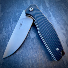 Load image into Gallery viewer, Expedition Prototype Folder - Matte ATS-34 & Black Ripple G-10 - Limited Run of 20