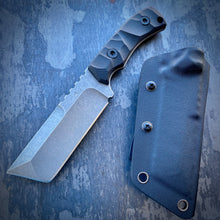 Load image into Gallery viewer, Stonewash ELMAX Tanto Concept Knife - Tumbled ELMAX & Terrain Pattern G-10