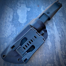 Load image into Gallery viewer, Stonewash ELMAX  Radical Tanto Concept Knife - Tumbled ELMAX & Molded Rubber Grip