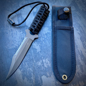 Gray Coated ELMAX Concept Boot Knife - Gray Coated ELMAX & Paracord Wrap