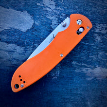 Load image into Gallery viewer, Expedition Prototype Folder - One of a Kind - Long Drop Point - Orange G-10