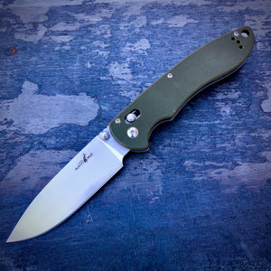 Expedition Prototype Folder - One of a Kind - Long Drop Point - Green G-10