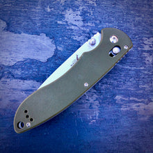 Load image into Gallery viewer, Expedition Prototype Folder - One of a Kind - Long Drop Point - Green G-10