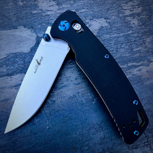 Expedition Prototype Folder - One of a Kind - Mid Drop Point - Black G-10