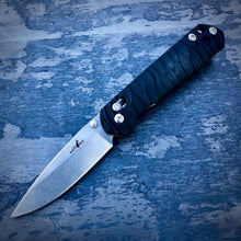 Load image into Gallery viewer, Expedition Prototype Folder - One of a Kind - Slender Drop Point - Black G-10