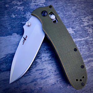 Expedition Prototype Folder - One of a Kind - GEN1 Straight - Army Green - Gray Coated