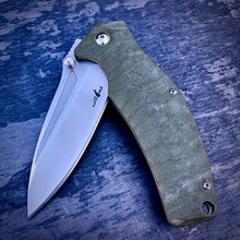 Load image into Gallery viewer, Expedition Prototype Folder - One of a Kind - Flipper Matte - Army Green G-10