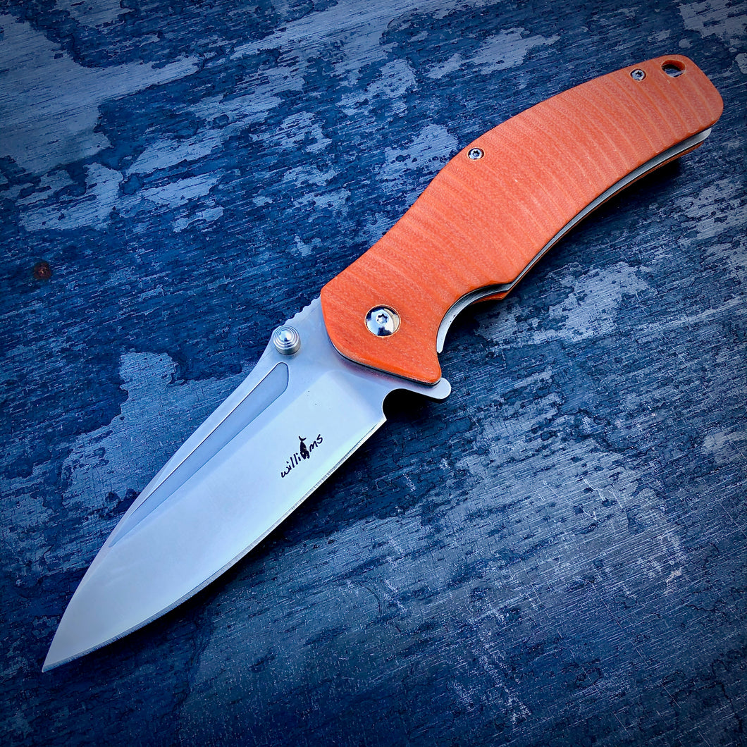 Expedition Prototype Folder - One of a Kind - Flipper Matte - Orange G-10