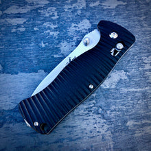 Load image into Gallery viewer, Expedition Prototype Folder - One of a Kind - Rhino Matte Sliding Lock - Black G-10