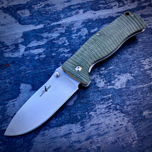 Load image into Gallery viewer, Expedition Prototype Folder - One of a Kind - Rhino Matte Liner Lock - Green G-10