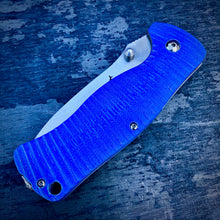 Load image into Gallery viewer, Expedition Prototype Folder - One of a Kind - Rhino Matte Liner Lock - Blue G-10