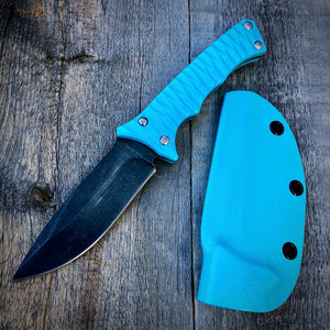 Legacy Concept Knife - One of a Kind - Fighter Prototype - Stonewashed & Blue G-10