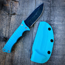 Load image into Gallery viewer, Legacy Concept Knife - One of a Kind - Fighter Prototype - Stonewashed & Blue G-10