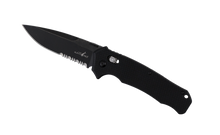 Load image into Gallery viewer, Gen 1 Folder Serrated - Black Tumbled