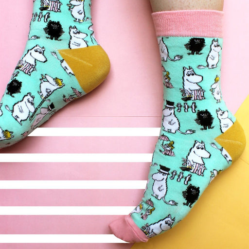 Moomin Family Print Socks