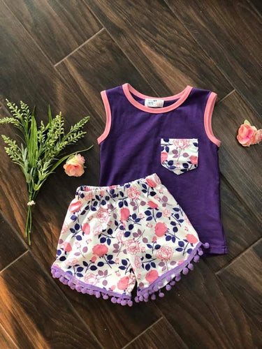 Enchanted To Meet You Pom | 2 pcs Shorts Set
