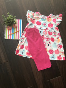 Apple Love Capri Set
