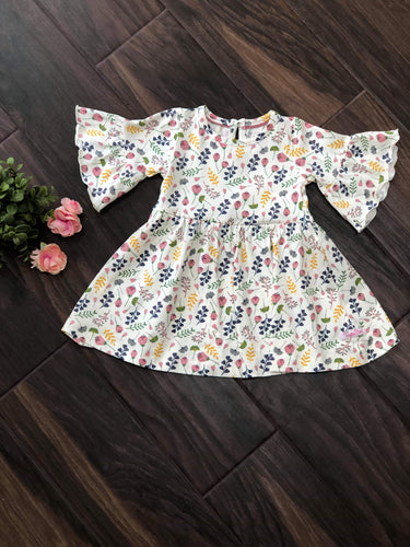 A Floral Affair Ruffle Sleeve Dress