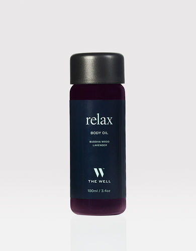 THE WELL Relax Body Oil | Buddha Wood & Lavender, 100 ml / 3.4 oz
