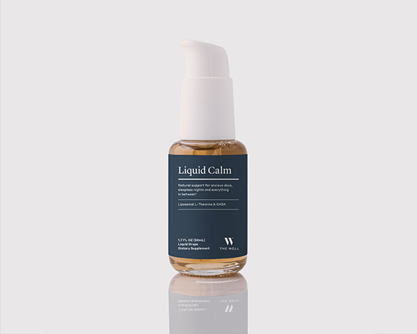 THE WELL Liquid Calm | Liquid Supplement for Healthy Response to Stress & Anxiety, Liposomal GABA with L-Theanine, 50 ml / 1.7 fl oz