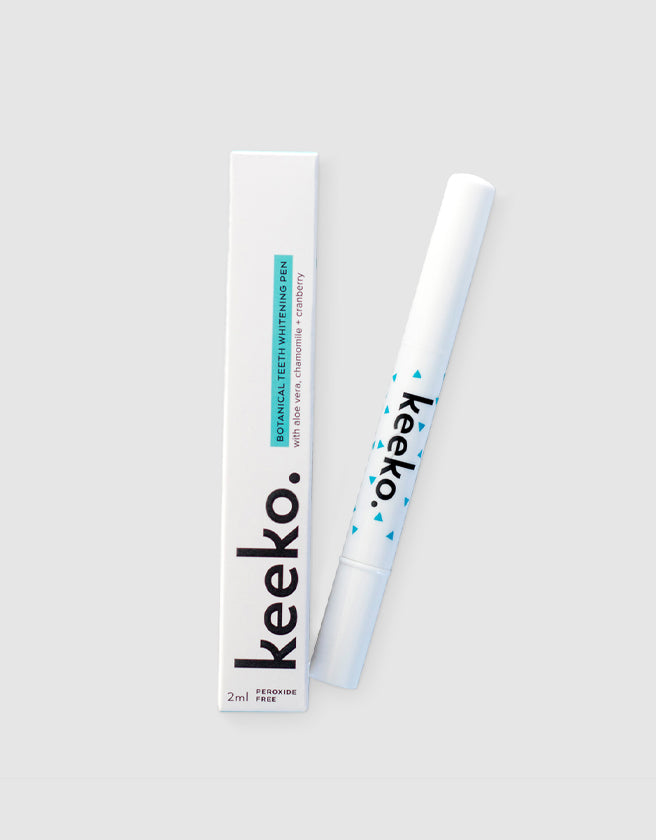 Keeko Botanical Teeth Whitening Pen | Peroxide-Free, Dentist-Formulated & Vegan for Safe and Effective Teeth-Whitening