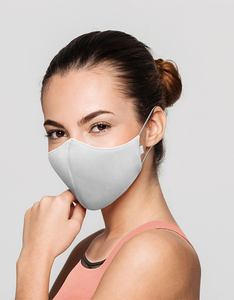 THE WELL Movement Mask | Washable Adult Face Mask, Great for Exercise, High Density Cotton in Black, White or Pink, One Size, 3-Pack or 6-Pack