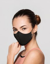 Load image into Gallery viewer, THE WELL Movement Mask | Washable Adult Face Mask, Great for Exercise, High Density Cotton in Black, White or Pink, One Size, 3-Pack or 6-Pack