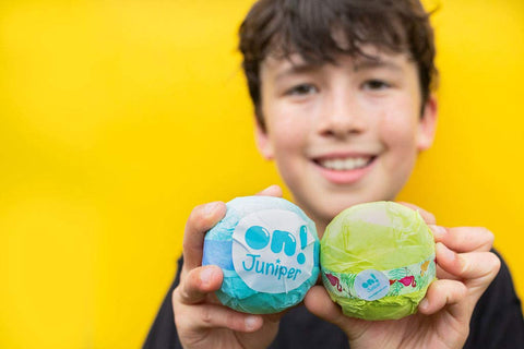 Kid-safe eco bath bombs - individual