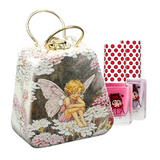 Flower Fairies Little Handbag Tin with 2 Miss Nella peel-off polishes