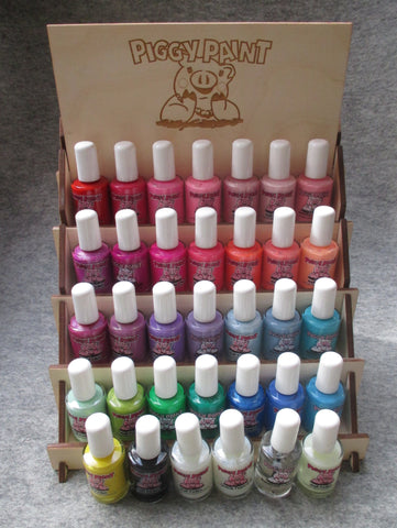 Piggy Paint wooden nail polish display - KidsNails.ie