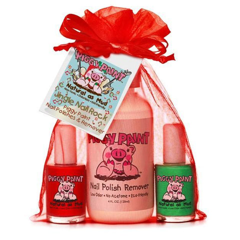 Jingle Nail Rock 3-Piggy-Paints Gift Set (Sometimes Sweet, Ice Cream Dream, Remover) - KidsNails.ie