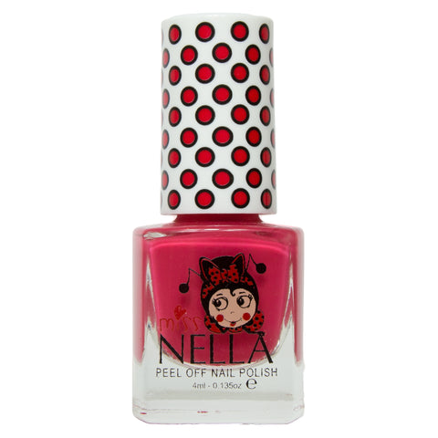 Miss Nella peel-off - Cherry Macaroon - KidsNails.ie