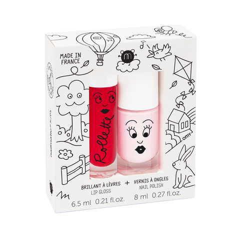 Nailmatic Lip and Nail gift set - Cottage (Cherry gloss and Bella polish)