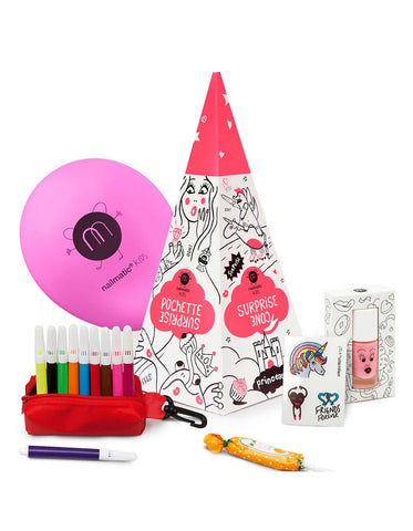 Nailmatic Wash-Off Surprise Cone Gift Set
