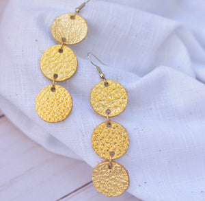 The Dottie Leather Earrings