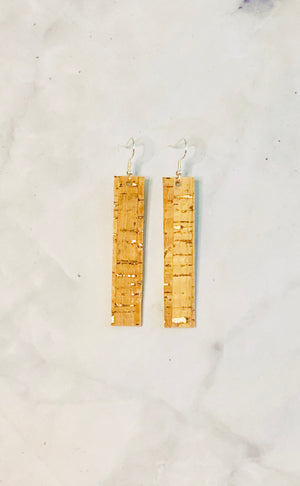 Cork Leather Earrings- The Lauren