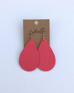 Coral Medium Egg Earrings