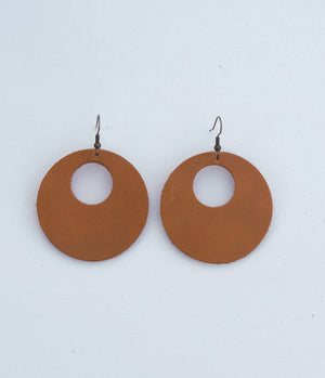 Kati Tan Leather Earrings