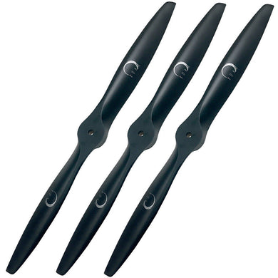 PJM Gas Beechwood RC Props (Matte Black) (Pack of 3)