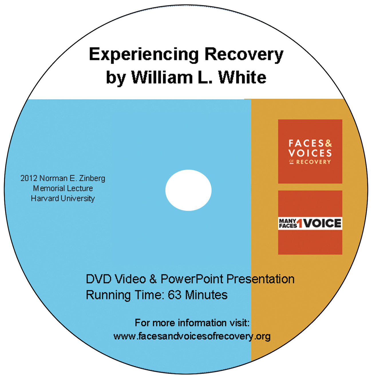 Experiencing Recovery, William L. White DVD