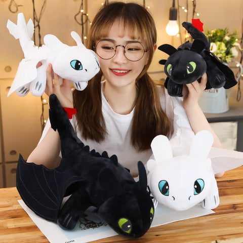 """How to Train Your Dragon,"" Plush ""Toothless"" Night Fury or Light Fury doll"