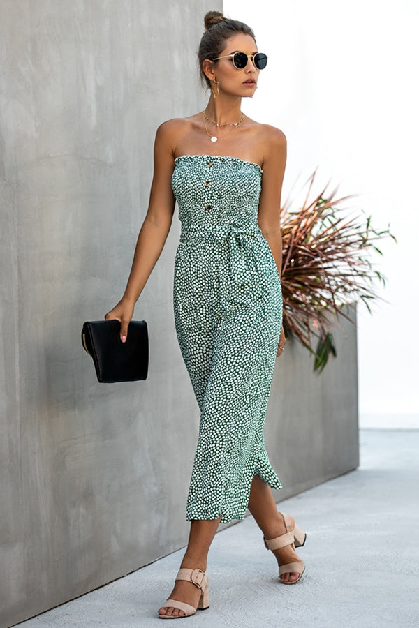 Tube Top Wide Leg Jumpsuit