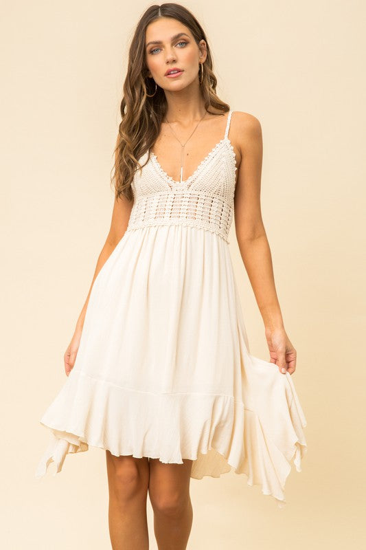 Bralette ruffle sun dress