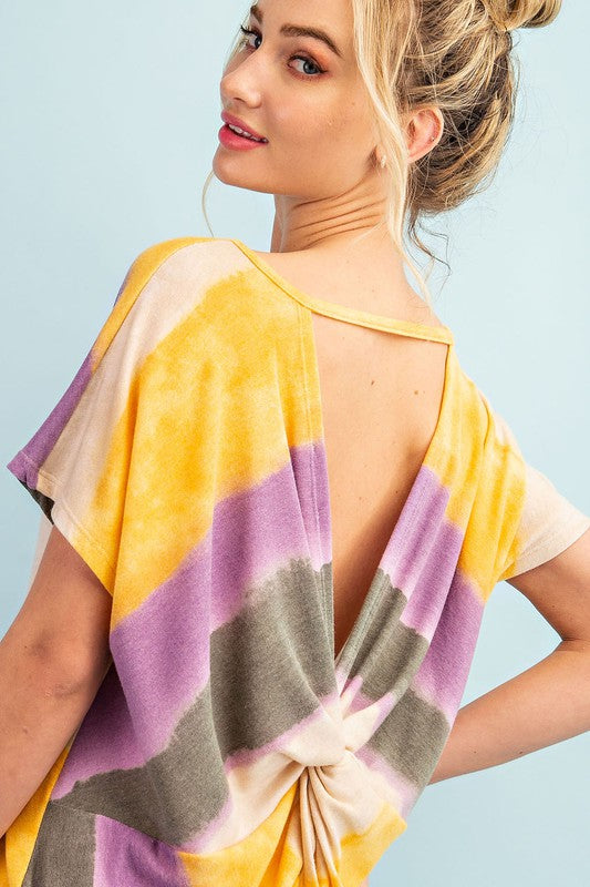 Baby Got Back Ombre Color Block Shirt