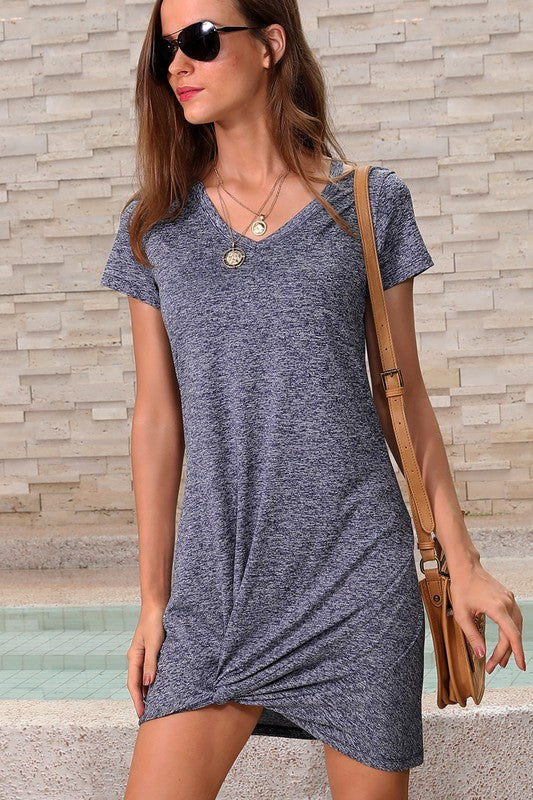 Grey Side knot dress